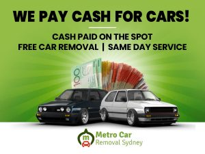 Metro Car Removal Sydney & Cash For Cars NSW